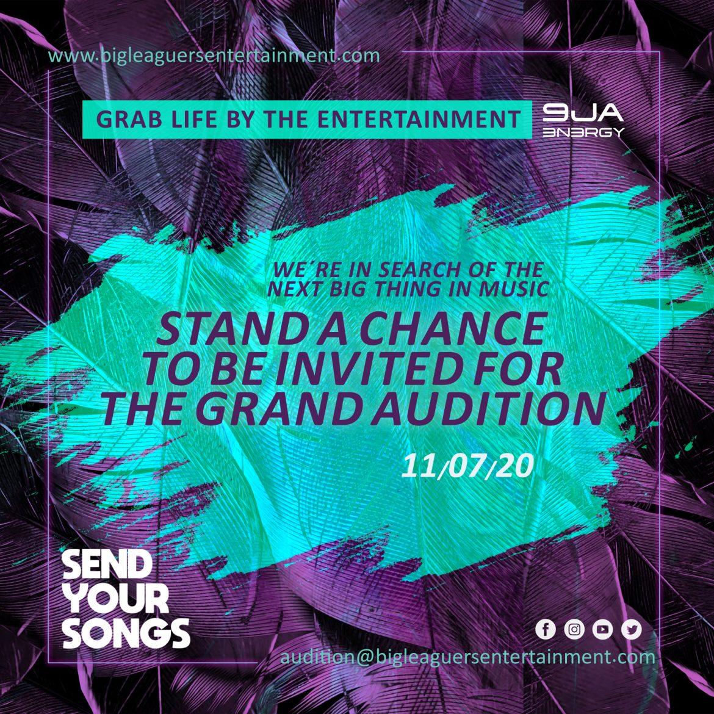 Big Leaguers Entertainment Audition for music talents